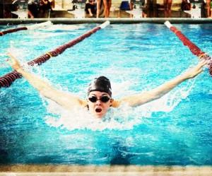 Sarah Allworth swims the butterfly. Photo courtesy of Sarah Allworth.