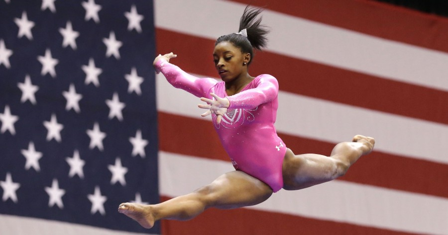 Simone+Biles+on+the+beam.+Photo+courtesy+of+Jenna+Watson%2FThe+Star.