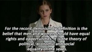 Emma Watson advocating for the feminist movement at the UN. Photo credit: Giphy