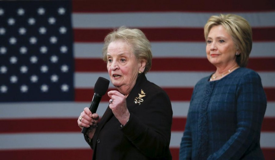 Former U.S. Secretary of State Madeleine Albright endorses Hillary Clinton in New Hampshire February 6, 2016. Phot credit: Reuters/Adrees Latif