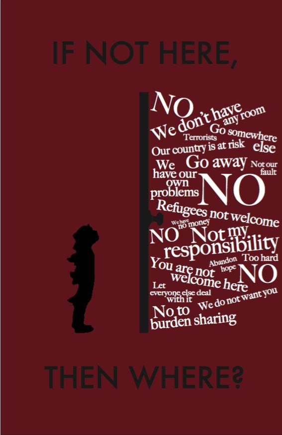 Sharika Elahi's Social Issue Poster. Photo credit: Sarkia Elahi