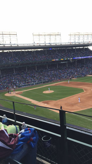 Pictured is the Cub's home field, Wrigley Field   Photo Credit: Sam Koutnik