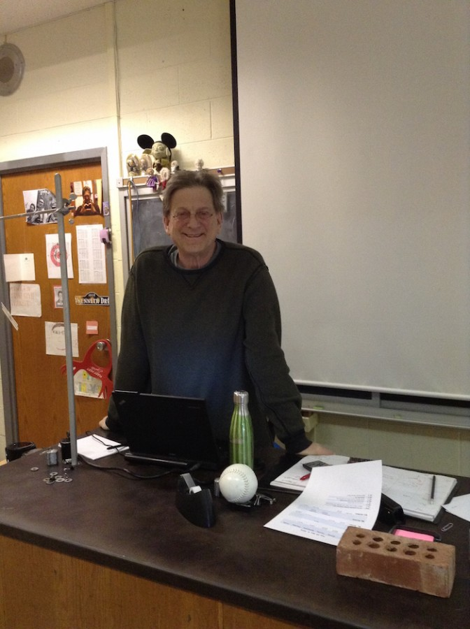 Mr. Finder smiling for his Astronomy class