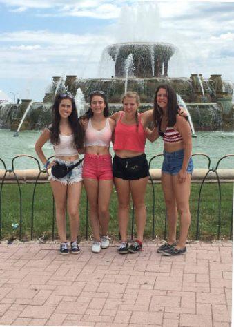 Julia Campanini '17, Emily Miller '17, Claire Beiter '17 and Regina Trejo '17 at Lollapalooza in 2015 Photo Credit/Julia Campanini