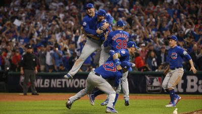 Photo Credits/ Brian Cassella The Cubs celebrate their World Series victory.
