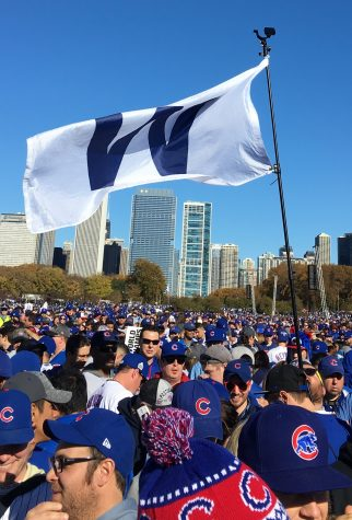 The Chicago Cubs Fly the W
