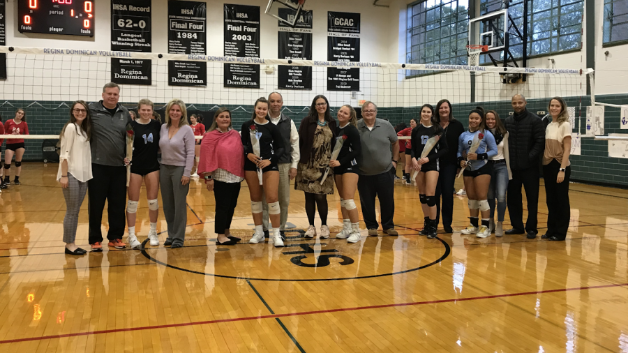 Five Seniors Celebrated During Volleyball Senior Night